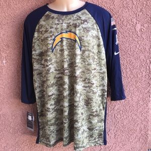 Nike NFL Chargers Salute to Service Camo T Shirt